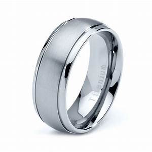 Titanium wedding band men titanium rings mens wedding for Ring mens wedding