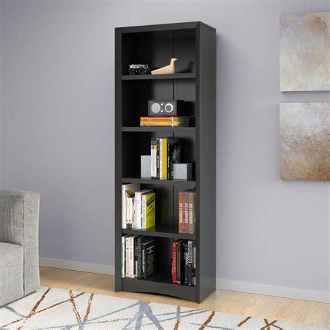 Black Bookcase by Corliving Quadra 71 In Black Faux Woodgrain Bookcase