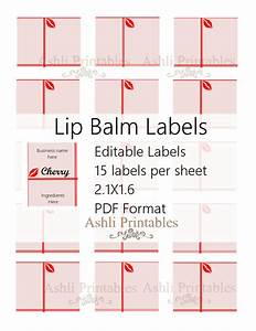 lip balm labels ashlisoapblog With chapstick label size