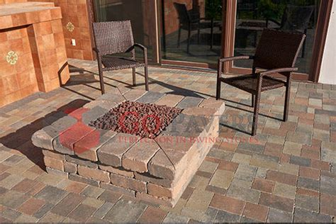 get the best pavers bbq pit installation go pavers
