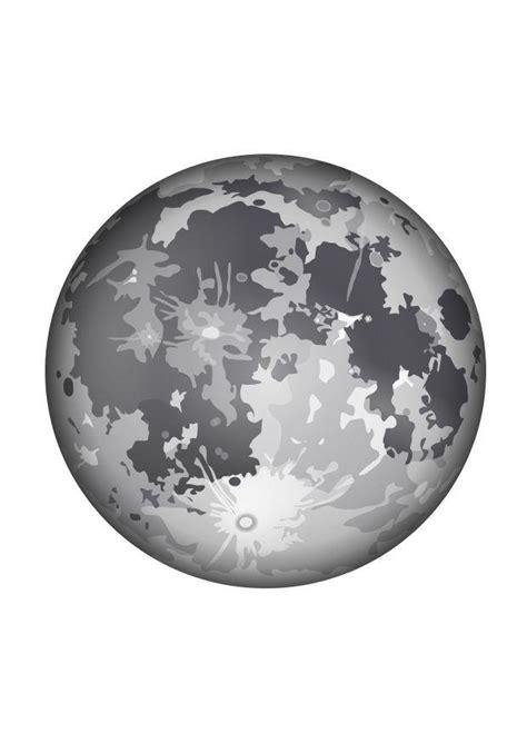 dibujo  colorear la luna dibujos  imprimir gratis