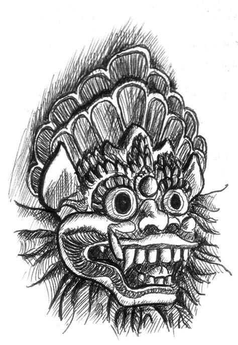 bali barong sketch  artnlou  deviantart art
