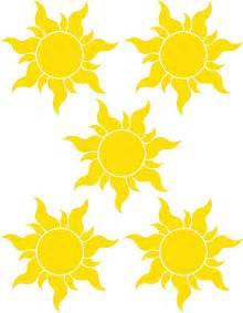 Tangled Sun Templates Printable