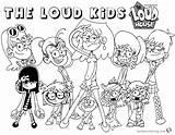 Loud Coloring Pages Characters Printable Cartoon Lynn Template Sketch Popular Getdrawings sketch template