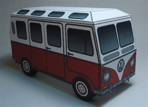 Volkswagen Kombi Type Ii Paper Model 19 Windows
