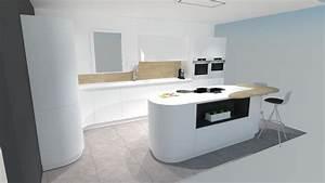 une cuisine futuriste blanche a decouvrir absolument With cuisine moderne blanche et bois
