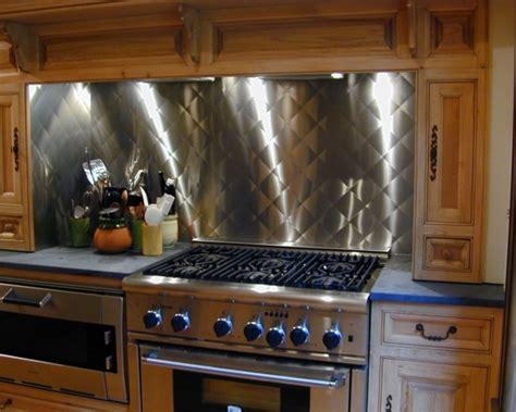 Custom Cut Stainless Steel Backsplash : Stainless Steel Backsplash With Quilted Pattern