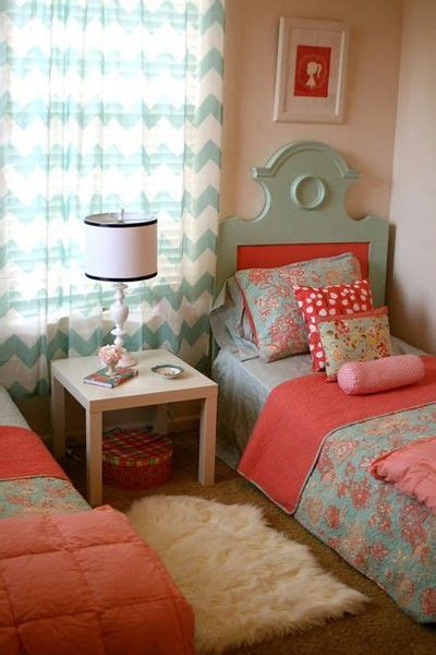 Coral, Pink And Blue Girls Room  For The Bedroom Juxtapost