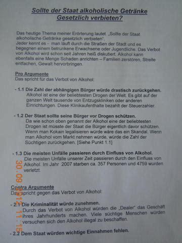 streit um eroerterung deutschunterricht schule deutsch