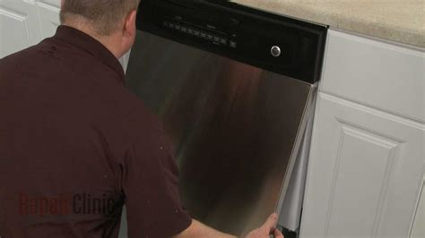 ge dishwasher outer door panel replacement wdx youtube