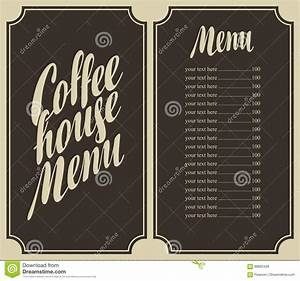 coffee house menu for a price list vector illustration With coffee price list template