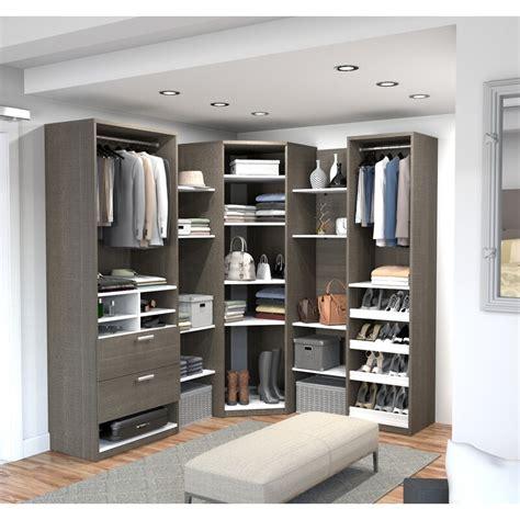 rebrilliant wilbur corner walk   closet system wayfair