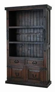 Rustic, Bookcase, Rustic, Dark, Bookcase, Rustic, Pine, Bookcase
