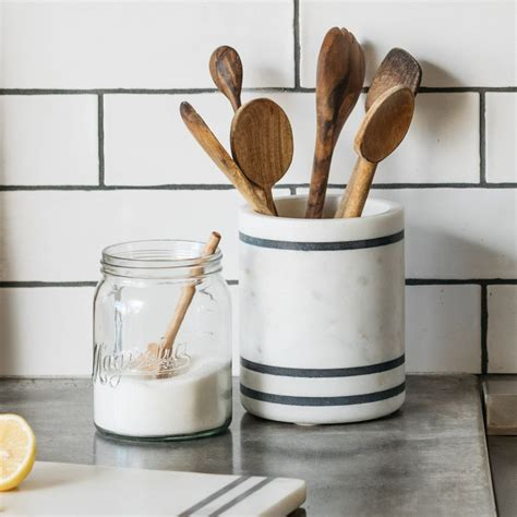 Product Of The Week A Kitchen Utensil Holder by Magnolia Adelaide Stripe Utensil Holder Magnolia