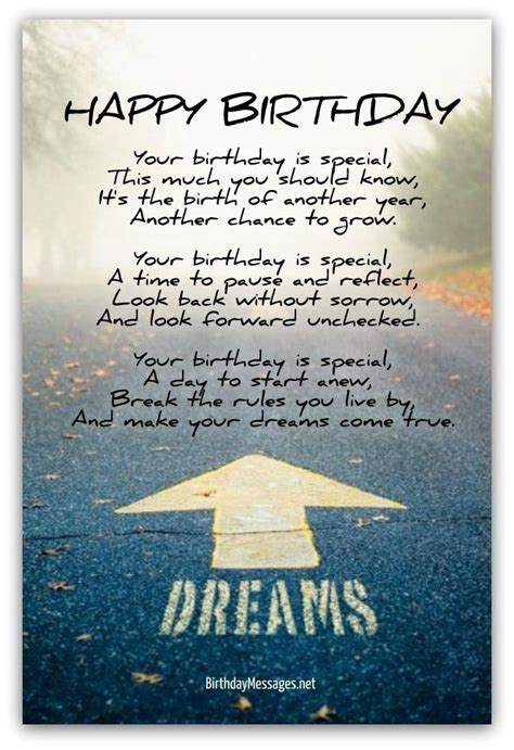 inspirational birthday poems page  inspirational