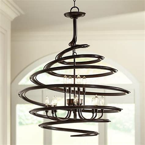 franklin iron works lighting franklin iron works bronze 30 3 4 quot wide swirl chandelier