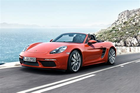porsche boxster s 2017 porsche 718 boxster revealed with new turbo engines