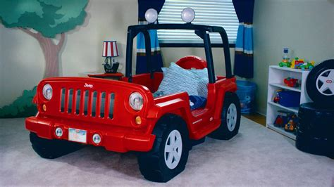 kids red jeep furniture unique beds for boys interior design