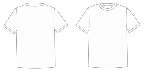 T Shirt Blank Template by Blank Vector Shirts Orangiausa