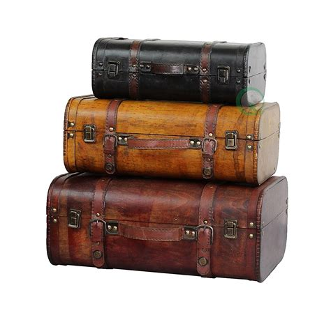 3colored Vintage Style Luggage Suitcase Set Of 3 Best Offer