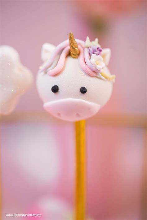 baby unicorn st birthday party cookies cake pops