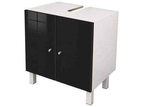 eco cuisine salle de bain meuble sous lavabo soramena coloris noir vente de meuble
