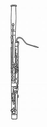 Bassoon Instruments Coloring Clipart Music Orchestra Pages Musical Instrument Woodwind Printable Grade 6th Clip Woodwinds Clips Sheets Scasd Colouring Samples sketch template