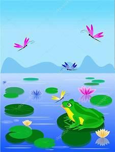 Feuille De Lys : grenouille verte de dessin anim assis sur une feuille de lys image vectorielle bemoll ~ Nature-et-papiers.com Idées de Décoration