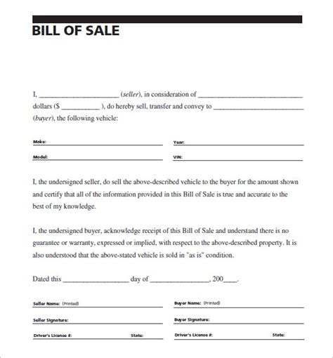 car bill of sale word auto bill of sale 8 free word excel pdf format