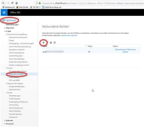 Office 365 Outlook Pop3 by Pop3 Konto 252 Ber Office365 Abrufen Send Only Smtp Konto Im