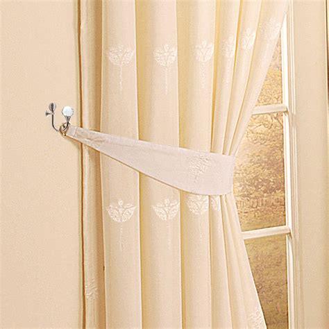 btsky 2x clear glass curtain hold backs wall