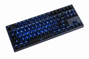 Deck Francium Pro Blue LED TKL Double Shot PBT Mechanical ...