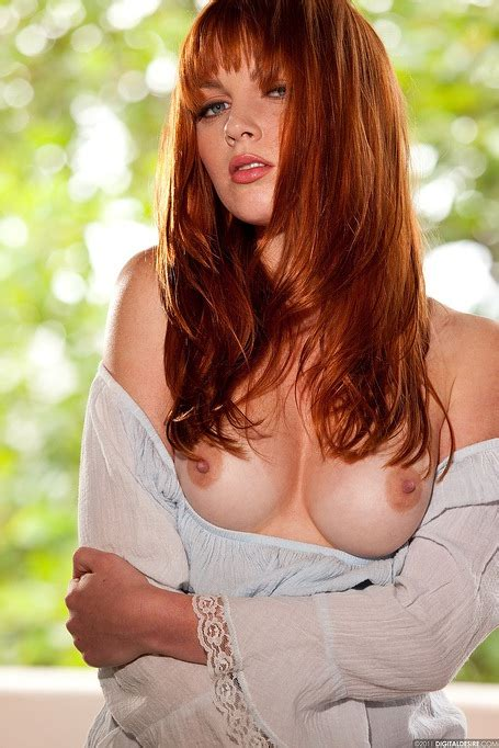 Redhead Marie Mccray Lets You Look At Her Perfect Natural Tits Xbabe