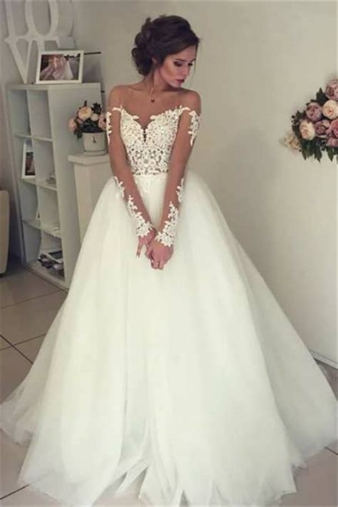 sheer long sleeve lace wedding dresses  open
