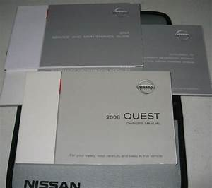 2008 Nissan Quest Owners Manual Set Guide 08 W  Case 3 5 S