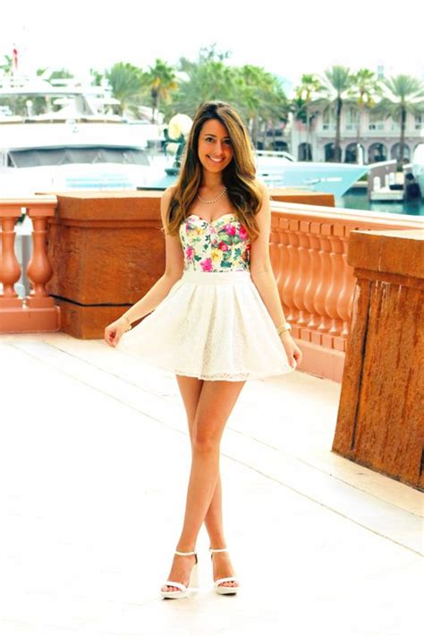 Cute spring summer outfit floral bustier lace skirt | .STYLE. | Pinterest | Spring Skirts and ...