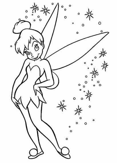 Tinkerbell Coloring Pages Pixie Bell Tinker Pinkalicious