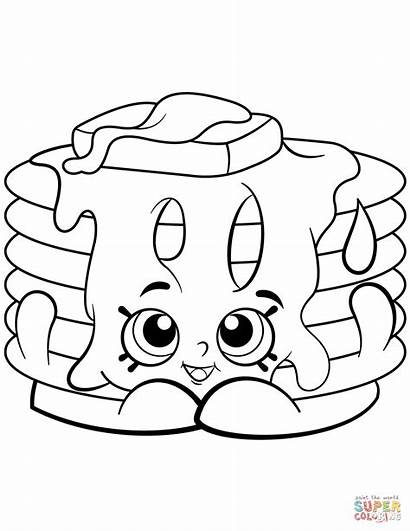 Shopkin Coloring Pancake Pages Pamela Shopkins Season