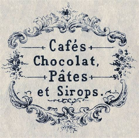 Vintage Graphics Fab French Advertising  Cafe Chocolat