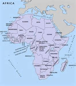 Africa Map with Countries Labeled