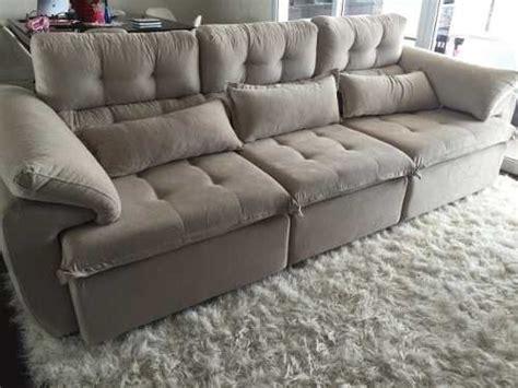 sofa retratil e reclinavel sofá 3 lugares assento retrátil e encosto reclinável