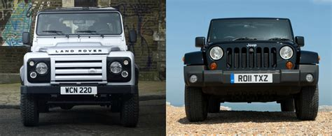 jeep range rover jeep wrangler vs land rover defender review reveals some
