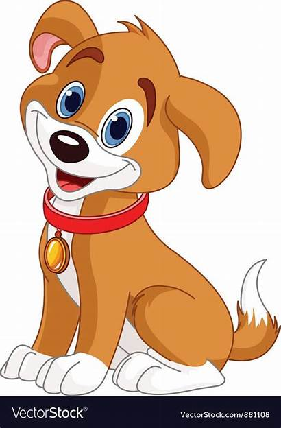 Dog Vector Vectorstock Cartoon Clip Dogs Puppy
