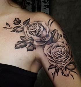 Rosen Tattoo Schulter : rose shoulder tattoo by craig shoulder tattoos pinterest schulter tattoo schulter und ~ Frokenaadalensverden.com Haus und Dekorationen