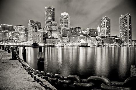 boston harbor  night hdr    exposures