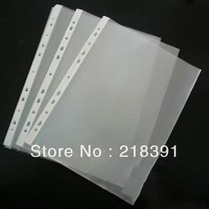 100pcs lot 11 hole a4 size clear sheet document folder With clear document protector