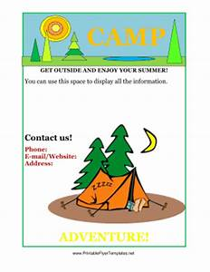 camp flyer template free
