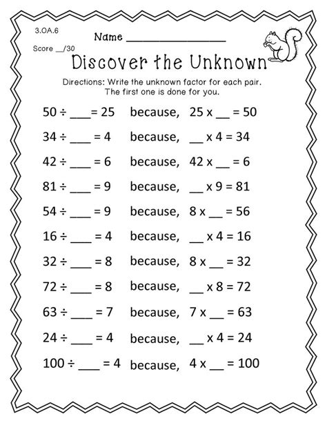 6 best images of 100 3rd grade printables math probloms