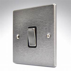 Hartland Stainless Steel Light Switch 1 Gang 2 Way