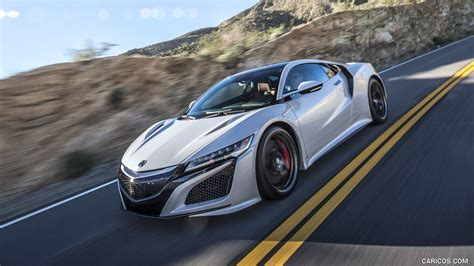 acura nsx white front hd wallpaper